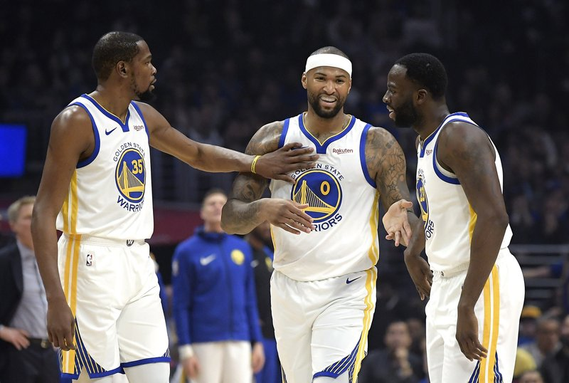 4fee09f02e49 Boogie Cousins overcomes nerves in 1st game with Warriors