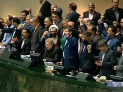 Raw: Iranian Parliament Members During Attack