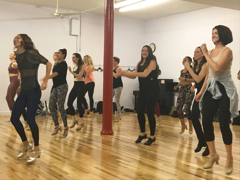 New Yorkers get their dance on with a tap class to pop music