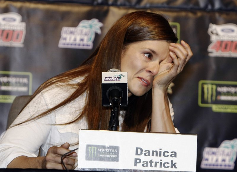 Danica Patrick gets emotional while announcing she's retiring from NASCAR in 2018