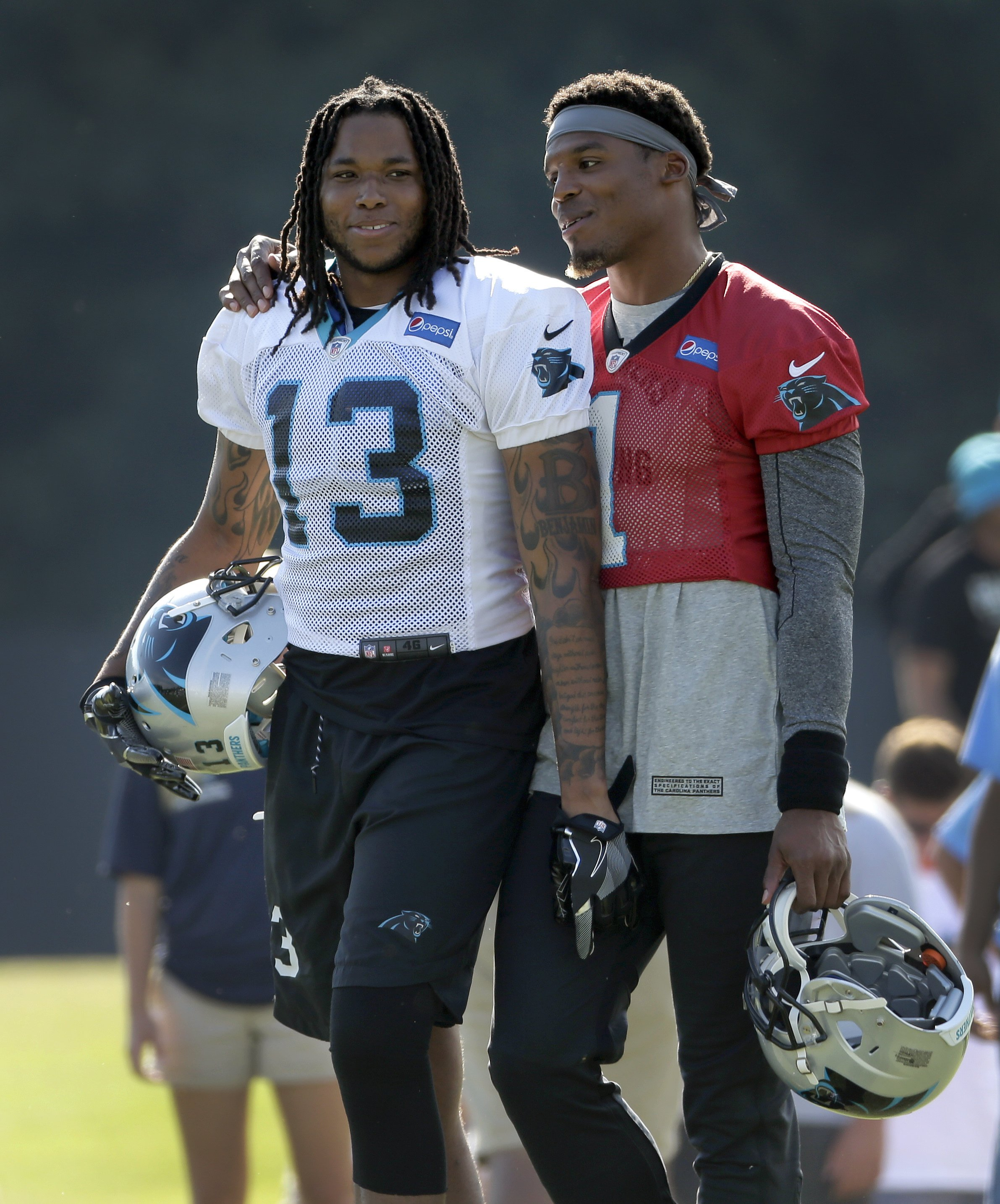 02b0f268 Panthers QB Newton doesn't throw for 3rd straight day