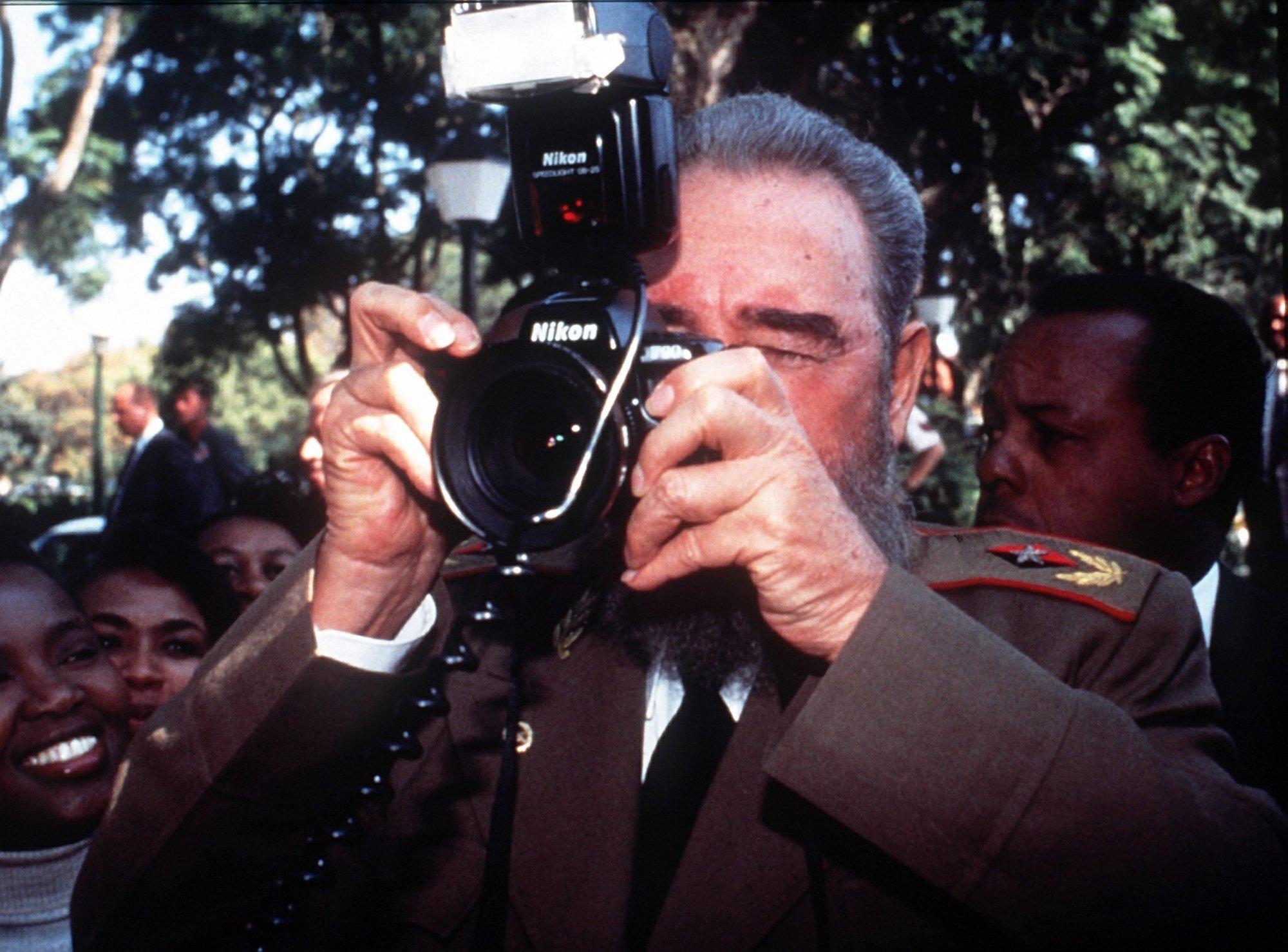 Castro and camera