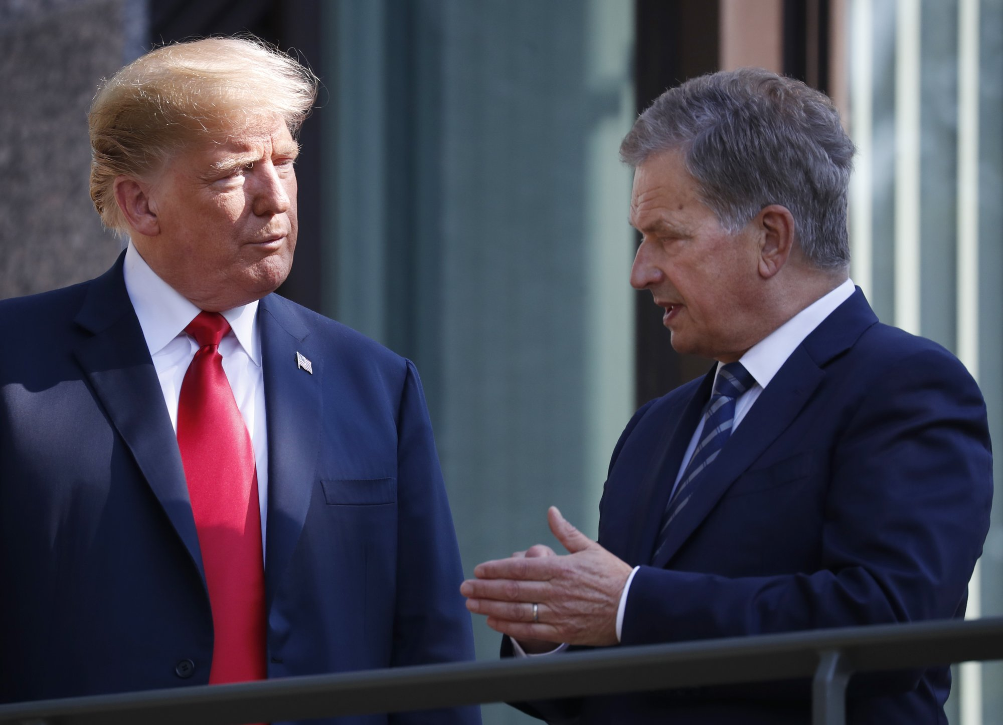 Finland's president rakes memory for source of Trump remark