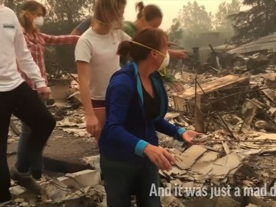 Wine Country Residents Return To Devastation