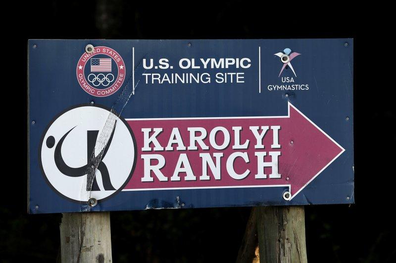 Karolyi Ranch sign