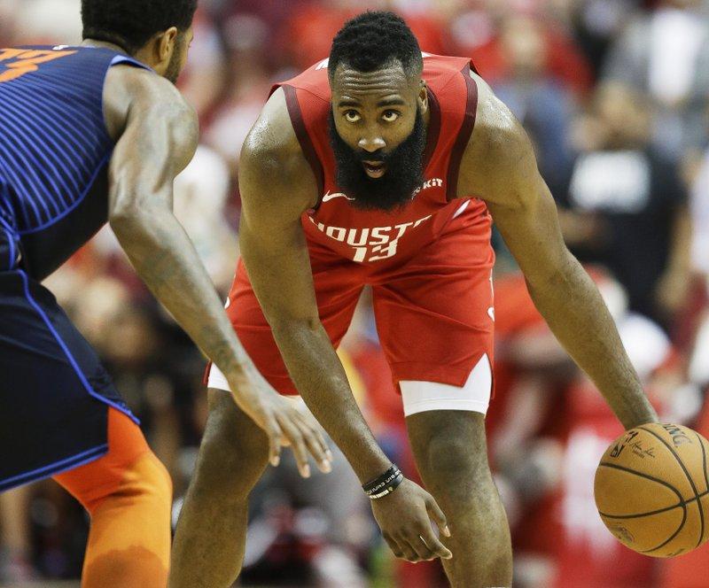 6be59d4d0b4f Harden s 41 helps Rockets beat Thunder 113-109