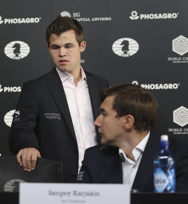 Magnus Carlsen, Sergey Karjakin,