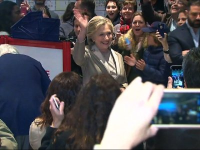 Raw: Hillary Clinton Casts Election Day Ballot