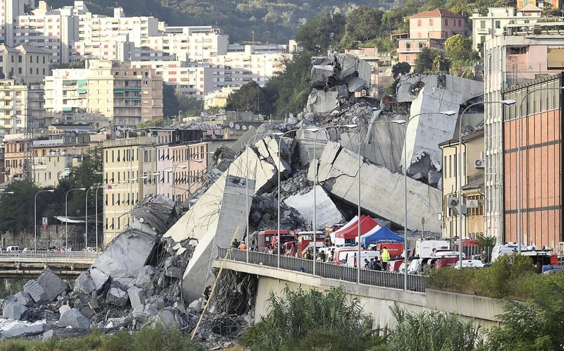 Image result for italy bridge collapse