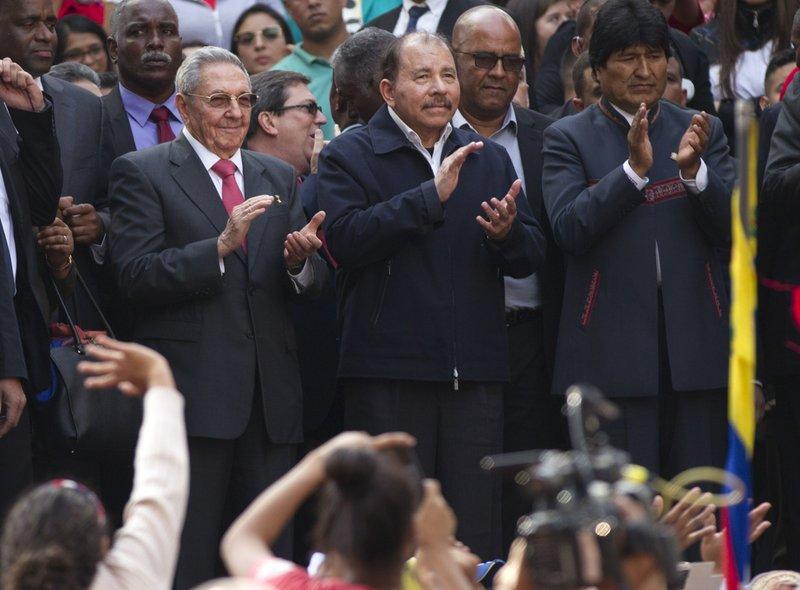 Raul Castro, Daniel Ortega, Evo Morales