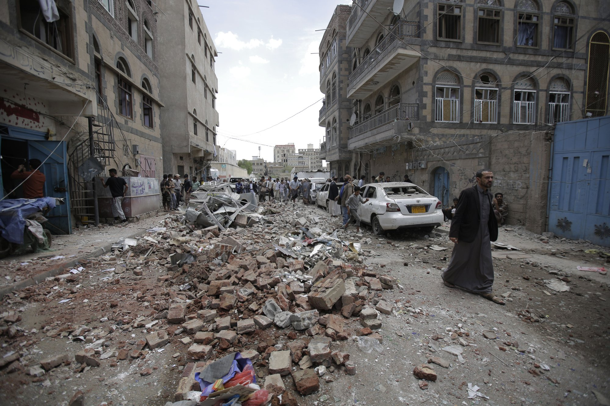 UN says civilians targeted in airstrikes on Yemen's capital