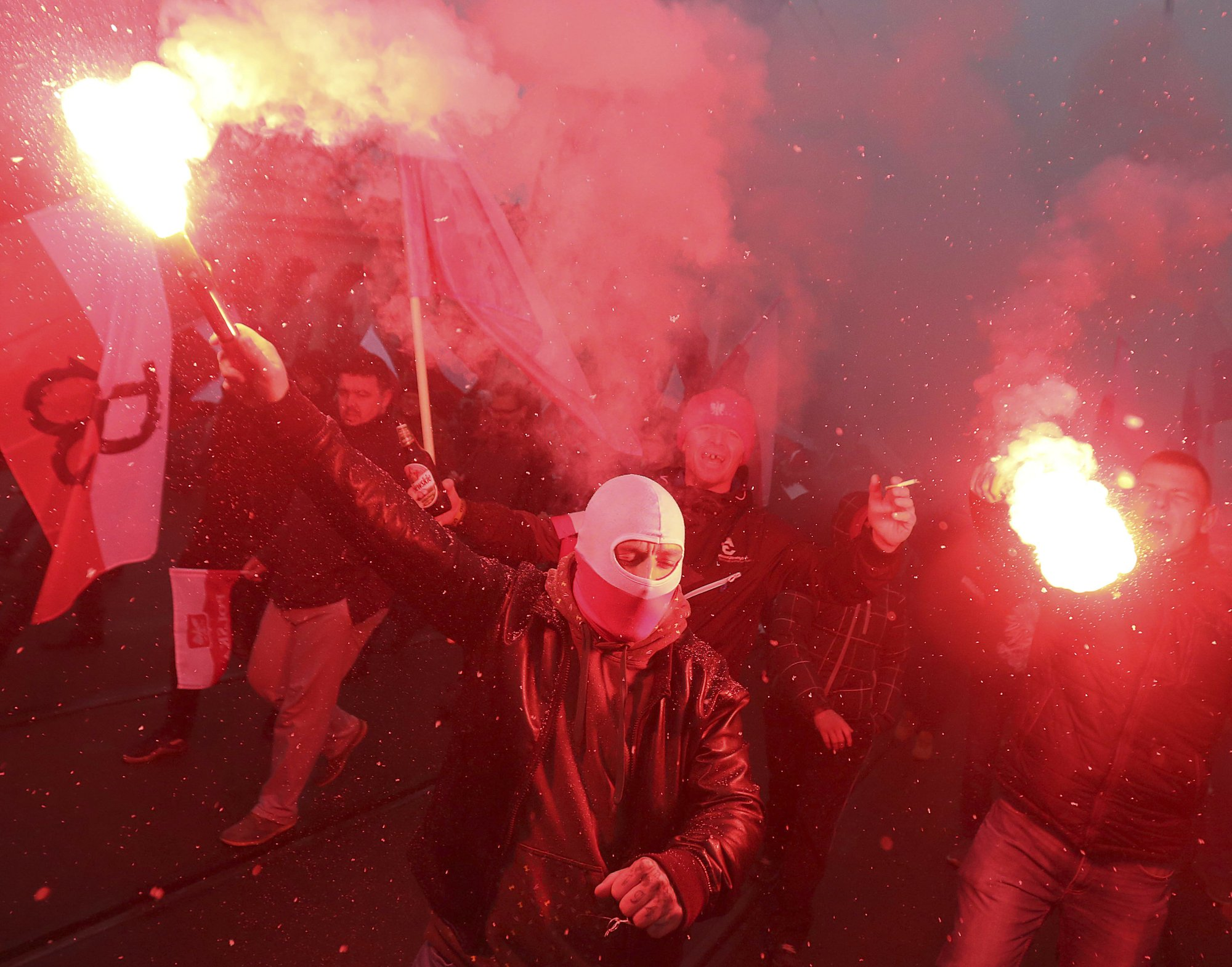 Far-right nationalists congregate on Polish Independence day