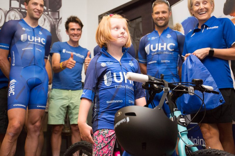 "5-Year-Old Boise Girl Named ""Pro Cyclist for the Day"" by UnitedHealthcare Pro Cycling Team during Twilight Criterium in Boise"