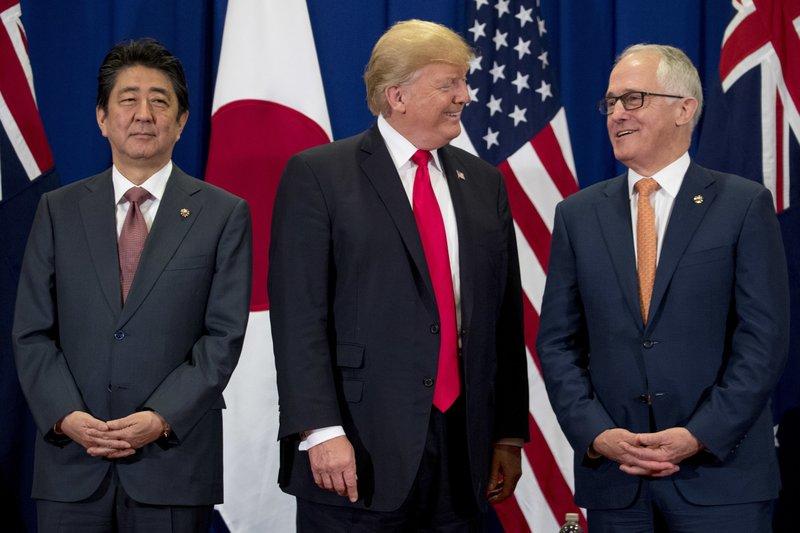 Donald Trump, Shinzo Abe, Malcolm Turnbull