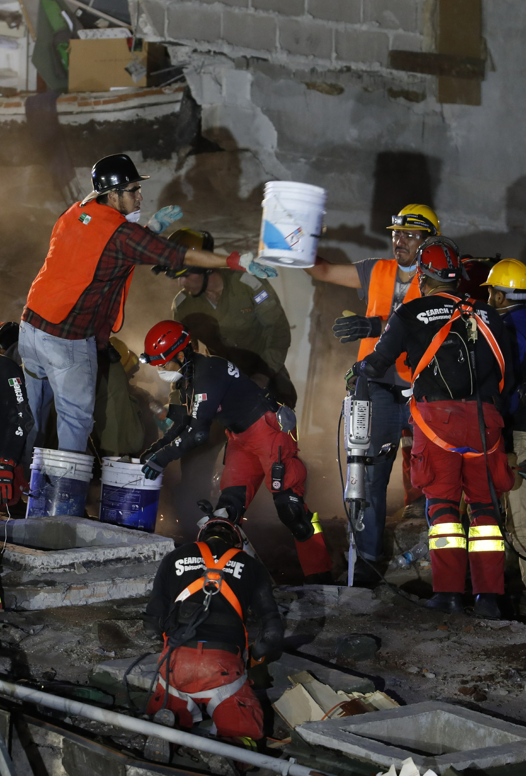 The Latest: Chopper carrying aid crashes in Mexico, 1 dead