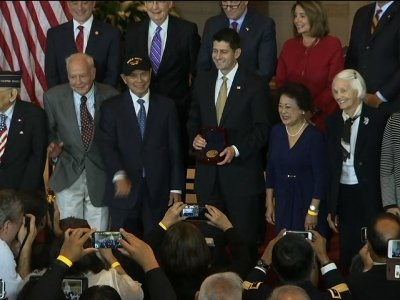 Filipino WWII Vets Awarded Congressional Medal