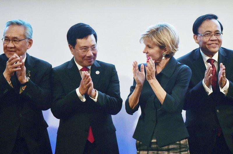 Julie Bishop, Don Pramudwinai, Pham Binh Minh, Kyaw Tin