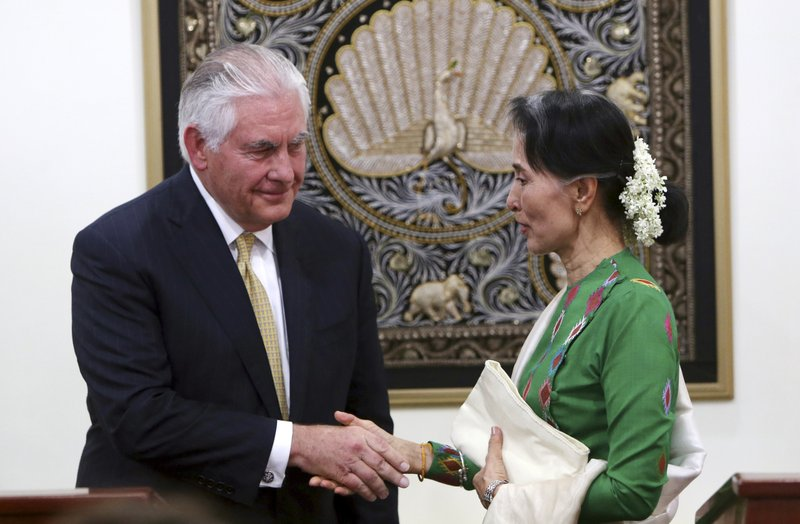 Aung San Suu Kyi, Rex Tillerson