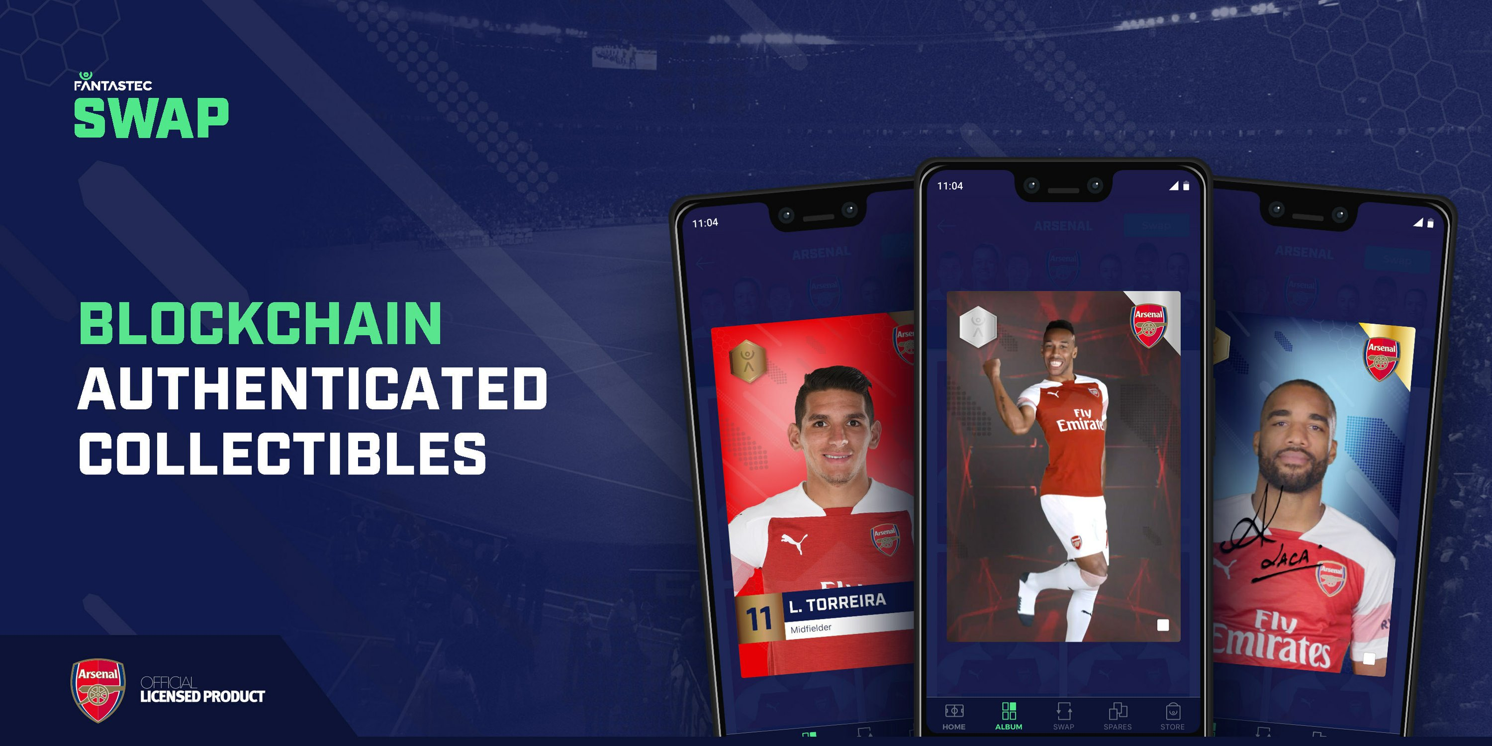 Fantastec Joins Forces with Arsenal FC Launching Official Blockchain Collectibles App