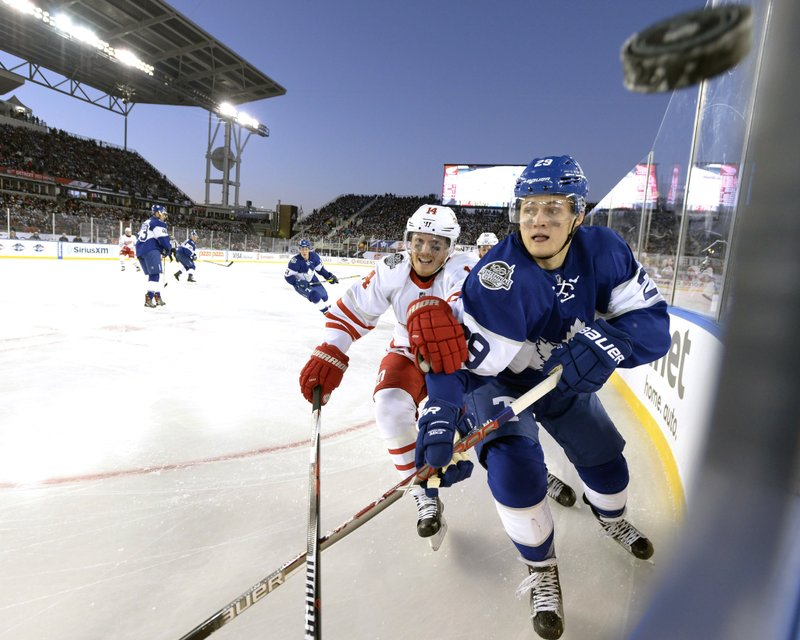 new style 19e32 3fd74 Matthews, Maple Leafs top Red Wings in Centennial Classic