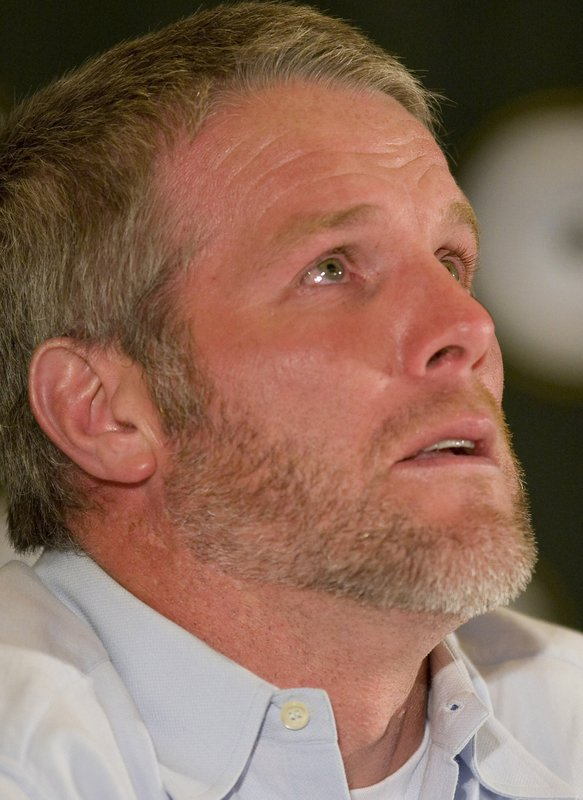 hof brett favre headlines hall of fame class file in this 6 2008 file photo green bay packers quarterback brett favre gets choked up as he talks about his retirement during a news conference