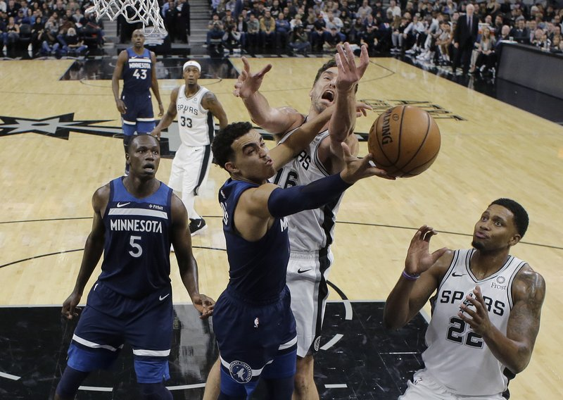 64de7e52f29 DeRozan leads Spurs past Wolves 112-108  Butler scores 23