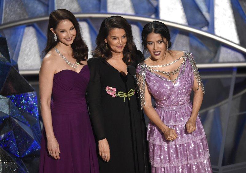 Ashley Judd, Annabella Sciorra, Salma Hayek speak
