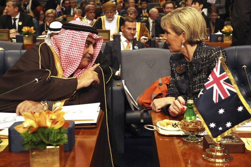 Khalid bin Ahmed Al Khalifa, Julie Bishop
