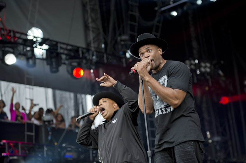 "Run DMC performing at the ""Made In America"" music festival"