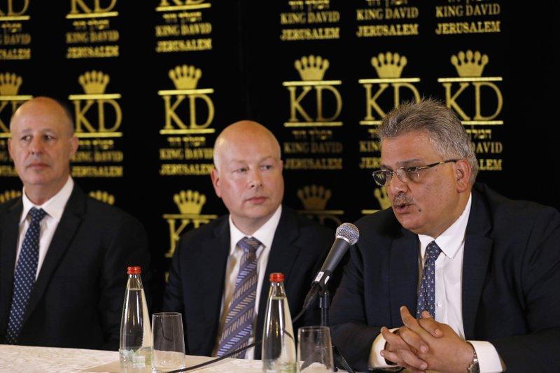 Mazen Ghoneim, Jason Greenblatt, Tzachi Hanegbi