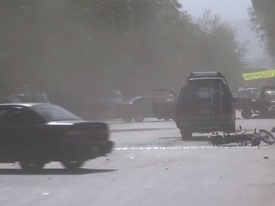 Raw: Deadly Double Suicide Bomb In Afghanistan