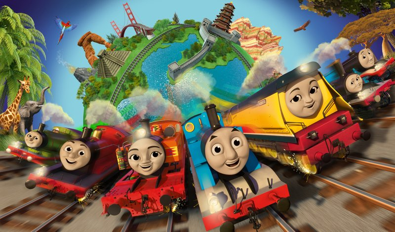 This Photo Provided By Mattel Inc Shows The New Steam Team Appearing In 2018 Series Of Thomas And Friends Big World Adventures