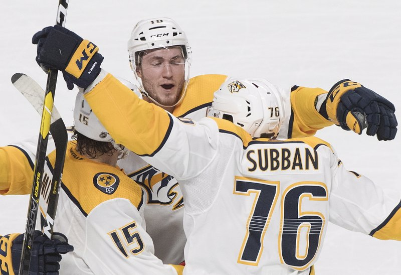 bd31aaa835b Smith scores twice, Predators top Canadiens 4-1