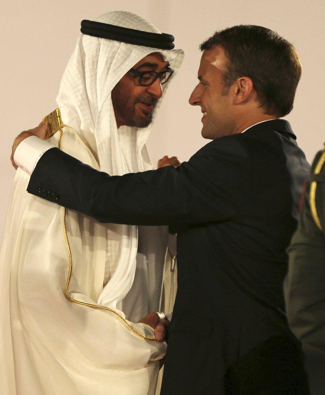 Emmanuel Macron, Mohammed bin Zayed al-Nahayan,