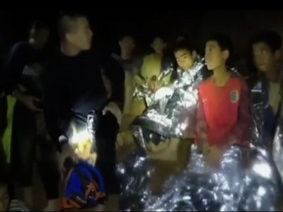 New Video Shows 12 Boys, Coach In Thailand Cave