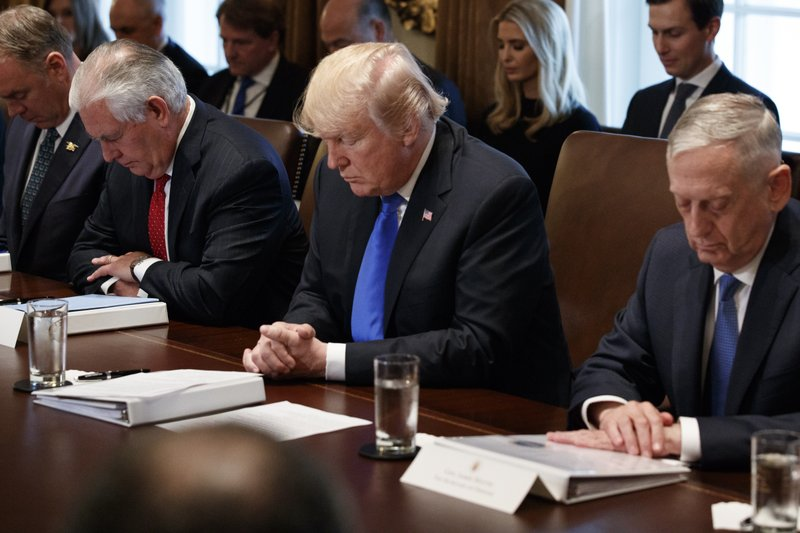 Donald Trump, Ryan Zinke, Rex Tillerson, Jim Mattis