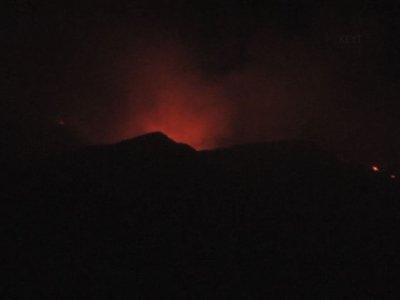 Raw: Giant California Wildfire Spreads Northwest