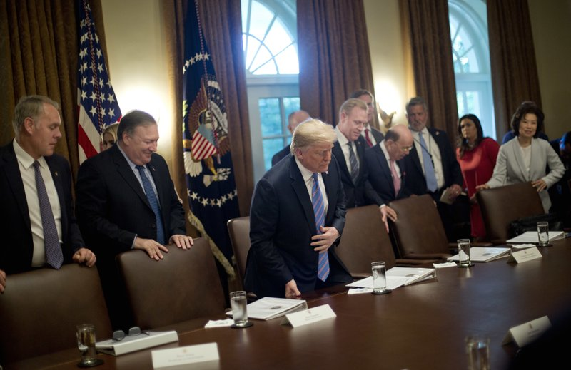 Donald Trump, Ryan Zinke, Mike Pompeo, Wilber Ross, Bill Shine, Patrick Shanahan
