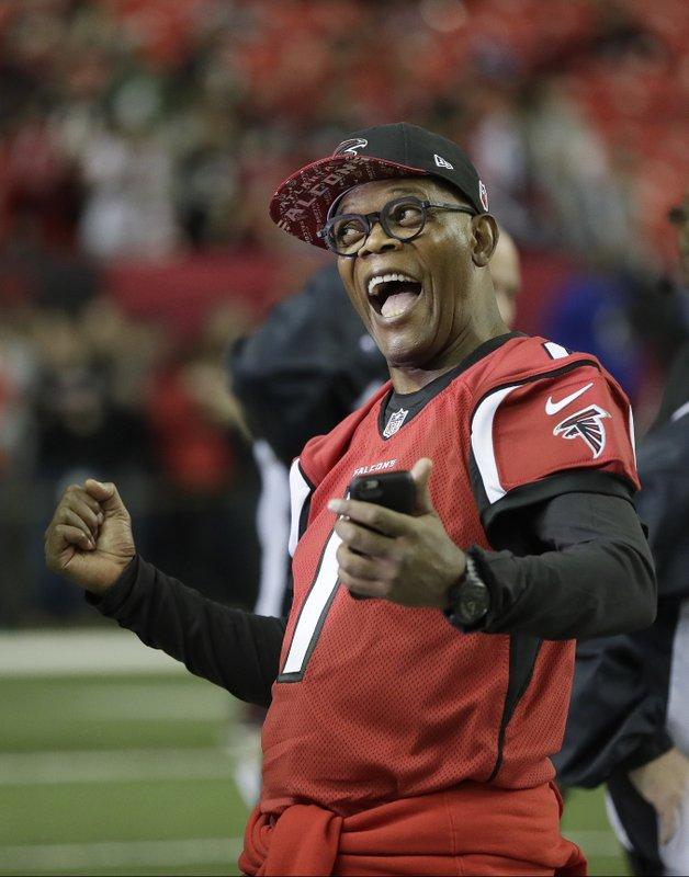 various colors 5fa47 e5b1b Atlanta celebrities 'rise up' for Super Bowl-bound Falcons
