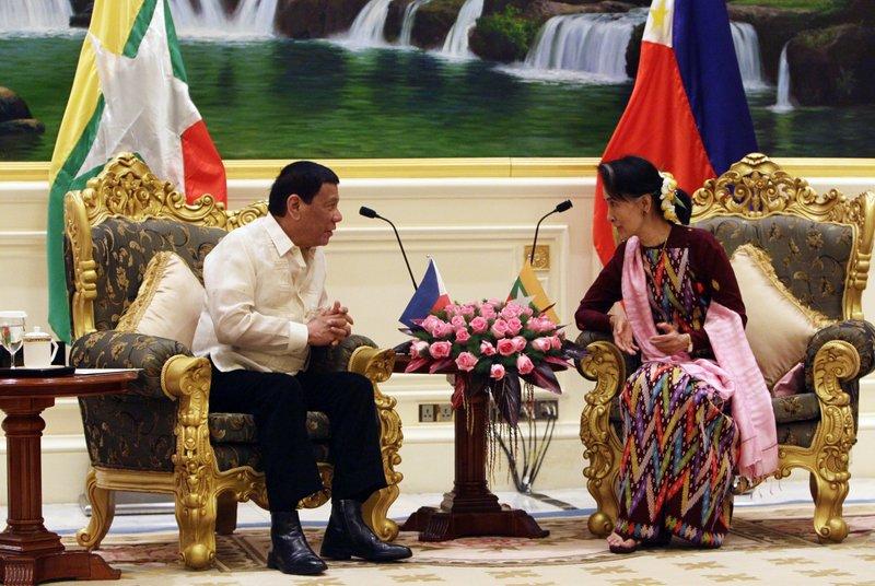 Rodrigo Duterte, Aung San Suu Kyi