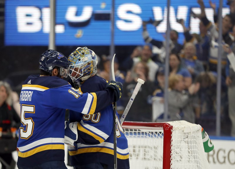 6b936d3e2da Blues' improbable run continues with first-round win