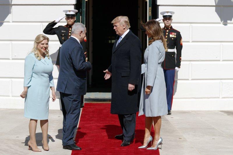 Donald Trump, Benjamin Netanyahu, Melania Trump, Sara Netanyahu