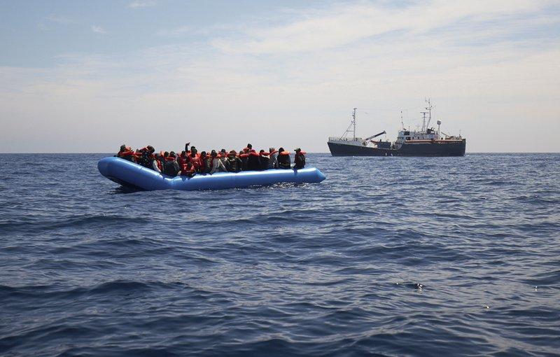 Aid ship with 64 migrants stuck in Mediterranean Sea