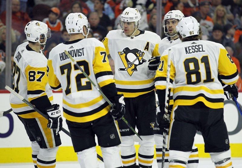 Sidney Crosby, Patric Hornqvist, Evgeni Malkin, Justin Schultz, Phil Kessel,