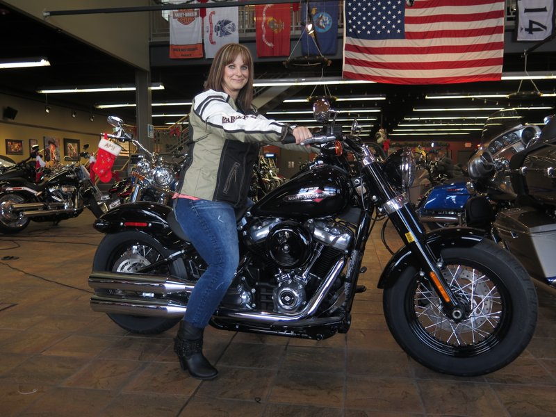 12, 2017, Photo, Terri Meehan Poses On A 2018 Harley Softail Slim In  Milwaukeeu0027s House Of Harley. Meehan Took A Riding Course At The Dealership  As Part Of ...