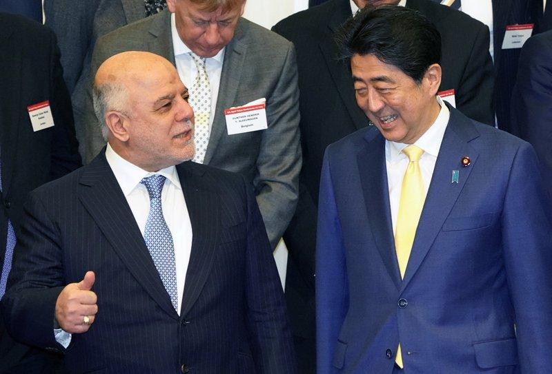 Haider al-Abadi, Shinzo Abe