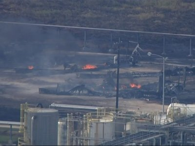 Raw: Controlled Burn Rages at Arkema Plant