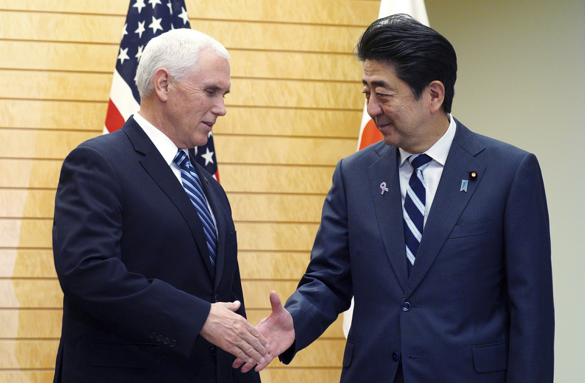 Pence Abe Agree On North Korea Sanctions New Trade Talks