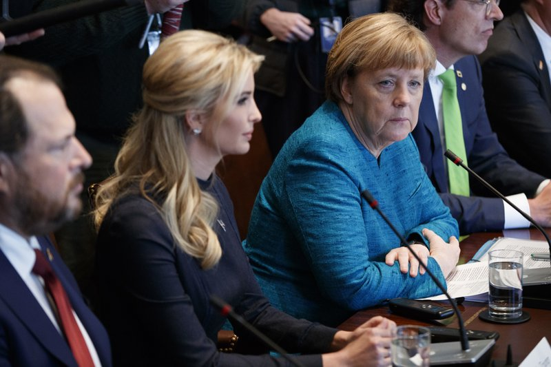 Donald Trump, Ivanka Trump, Angela Merkel
