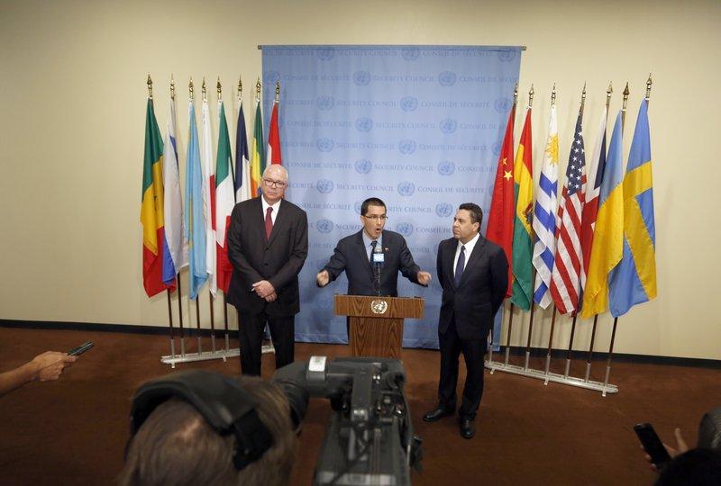 Jorge Arreaza, Samuel Moncada, Rafael Ramirez